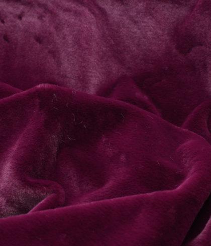Эко-мех однотонный бордовый