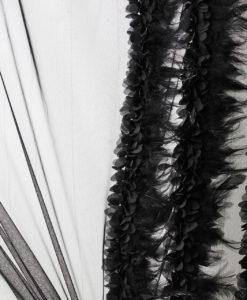 Сетка с перьями Цвет черный