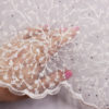 """Вышивка на сетке """"1001 карат""""свадебная с бисером и стразами"""