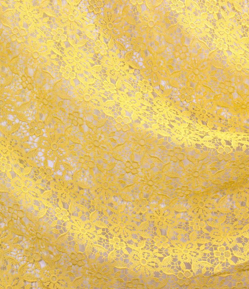Макраме с цветочным рисунком Цвет желтый