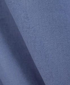 Лён однотонный синий