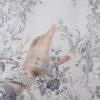 Вышивка на сетке Горный кристалл серый