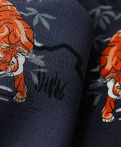 Креп-кади двухсторонний плательный Тигр
