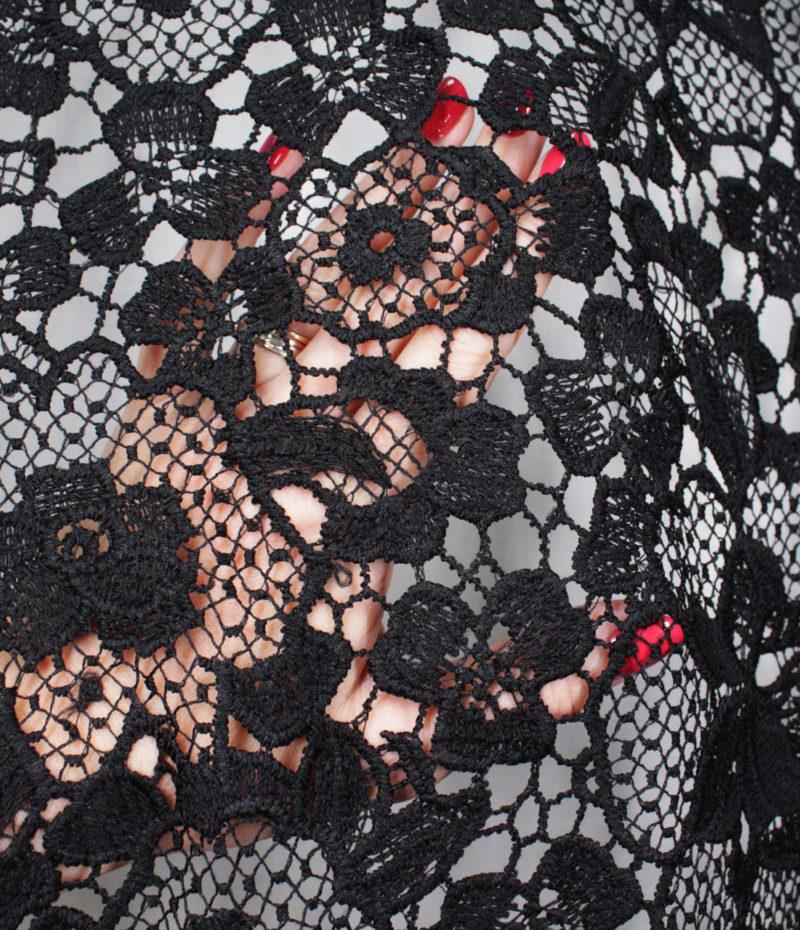 Макраме ажурное цвет чёрный