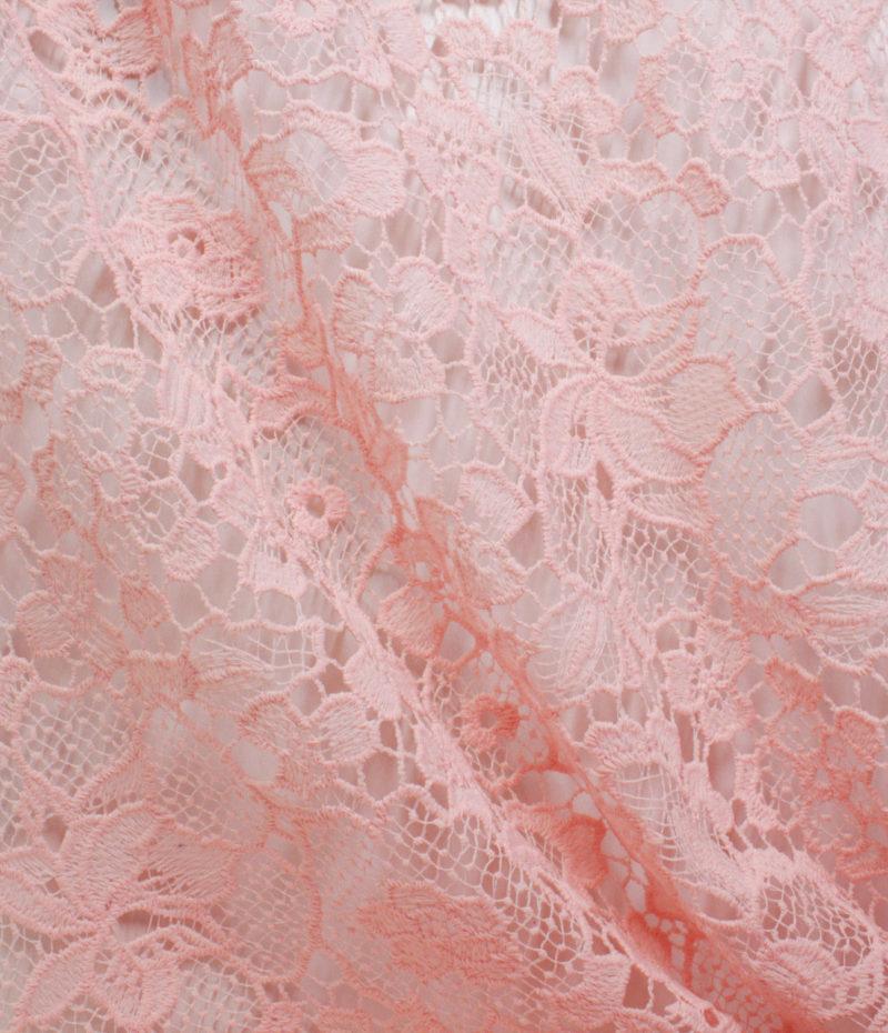 Макраме ажурное цвет розовый