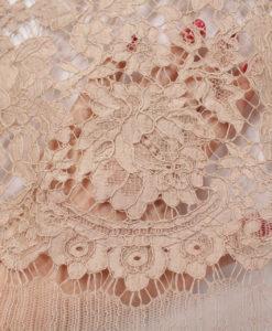 Французское кружево Valentino цвет Powder бежевое