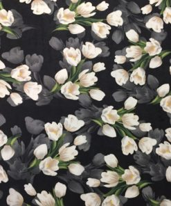 Креп тюльпаны