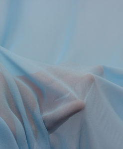 Шифон натуральный однотонный Небесно-голубой
