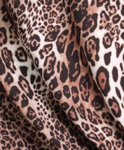 Софт-принт плательный креп Леопард