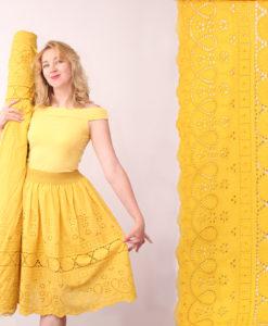 Шитьё хлопковое тонкое цвет желтый