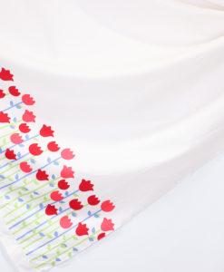 Поплин-купон Красные тюльпаны