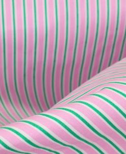 Поплин принт Полоска цвет розовый