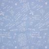Джинса принт Геометрия голубого цвета