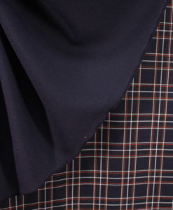 Ткань костюмная однотонная цвет темно-синий