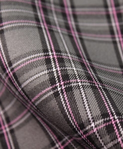 Ткань костюмная школьная клетка цвет серый
