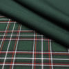 Ткань костюмная школьная клетка цвет зелёный