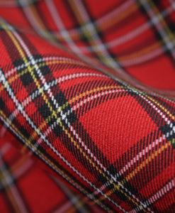 Ткань костюмная школьная клетка цвет красный