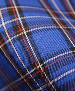 Ткань костюмная школьная клетка цвет васильково-синий