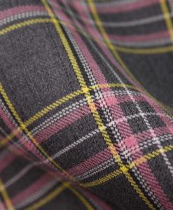 """Ткань костюмная школьная """"Лицей"""". Цвет серо-розовый. Арт. Cr-010"""