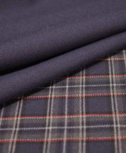 Ткань костюмная однотонная цвет фиолетовый