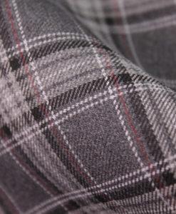 "Ткань костюмная школьная ""Лицей"". Цвет серый Арт. Cr-017-клетка"