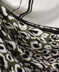 Штапель-креп купонный цвет хаки