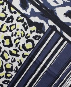 Штапель-креп купонный цвет синий