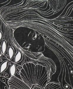 Штапель вискозный Ночные сны русалки