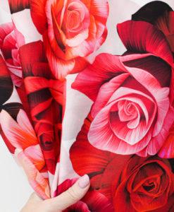 """Крепдешин """"Розы"""" с дизайном от  Dolce&Gabbana"""
