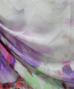 Шелк с цветами купонный