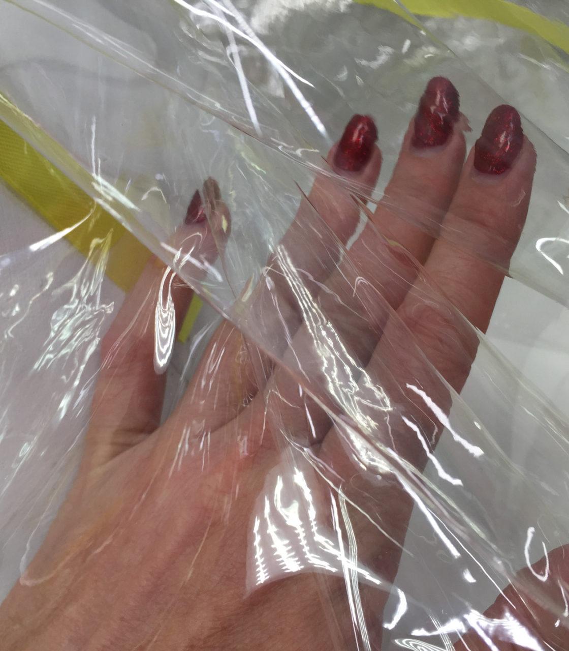 Ткань плащевая Кожа транспарентная (прозрачная)