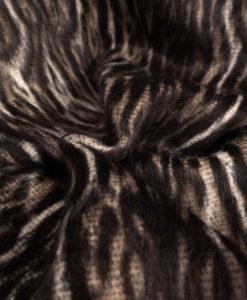 Пальтовая ткань с мохером Леопард