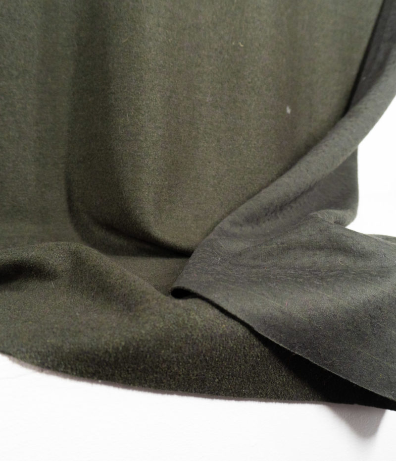 Пальтовая ткань «букле» болотный