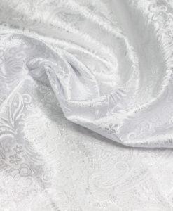 Парча белая с серебром