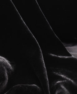 Бархат шёлк-вискоза черный