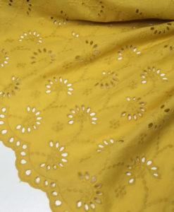 Шитьё хлопковое тонкое цвет солнечный желтый