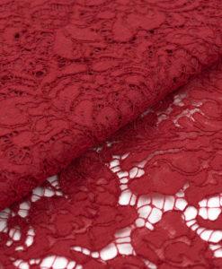 Французское кружево Massimo Karmin красно-бордовый