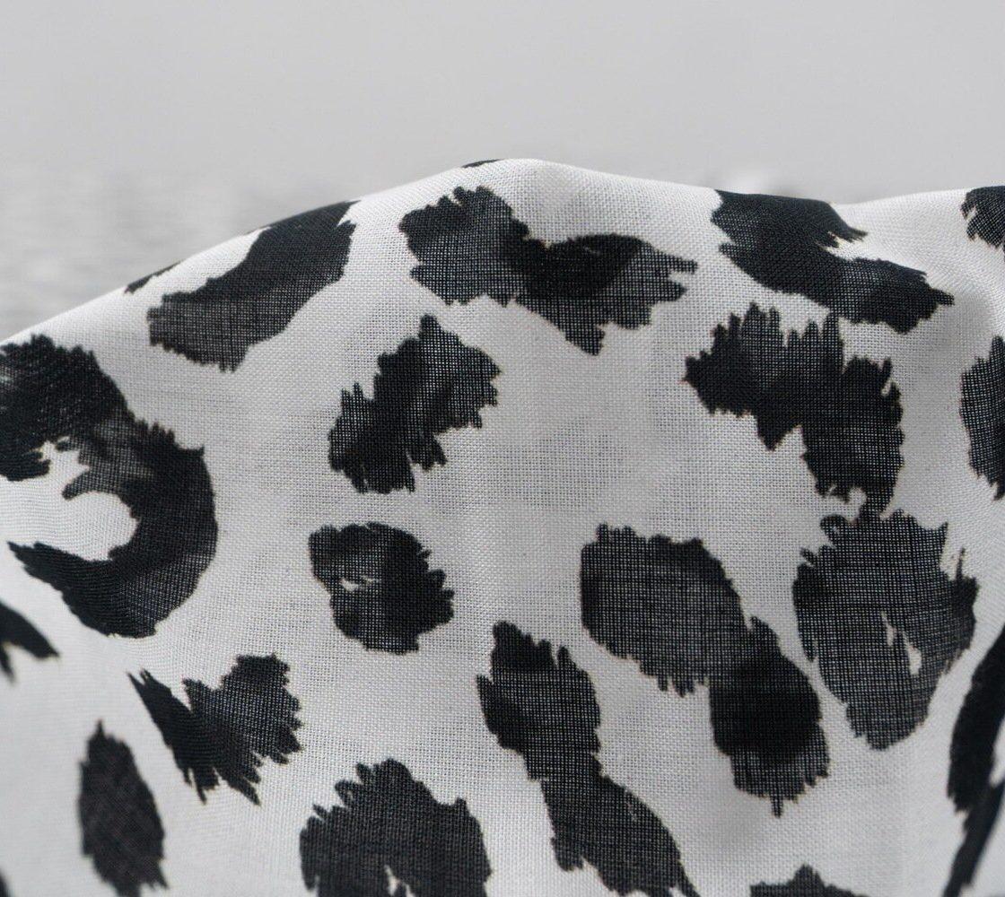 Батист леопард черно-белый Италия