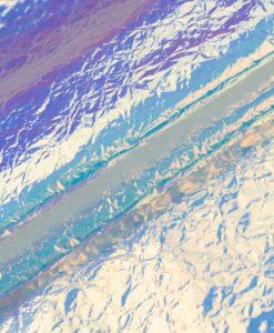 Ткань плащевая Галактика Белый-неон